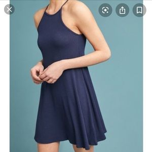 Anthropologie Ribbed Swing Dress